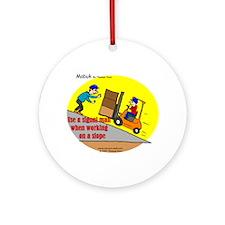 Forklift Safety Ornament (Round)