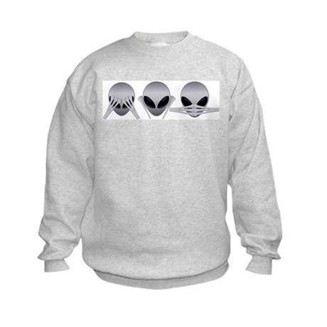 See No Evil Alien Kids Sweatshirt