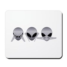 See No Evil Alien Mousepad