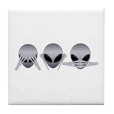 See No Evil Alien Tile Coaster