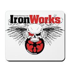 IronWorks Skull Flyer Mousepad