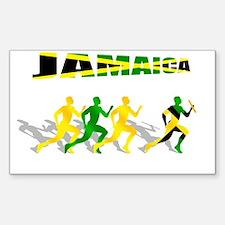 Jamaican Relay Team Decal