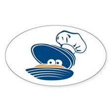 Happy Clam Oval Decal