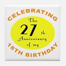Celebrating 45th Birthday Tile Coaster