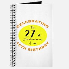 Celebrating 45th Birthday Journal
