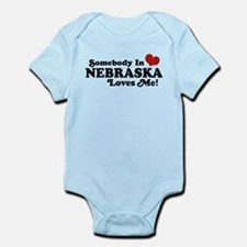 Somebody in Nebraska Loves Me Infant Bodysuit
