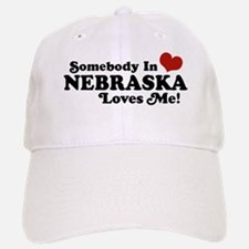 Somebody in Nebraska Loves Me Baseball Baseball Cap