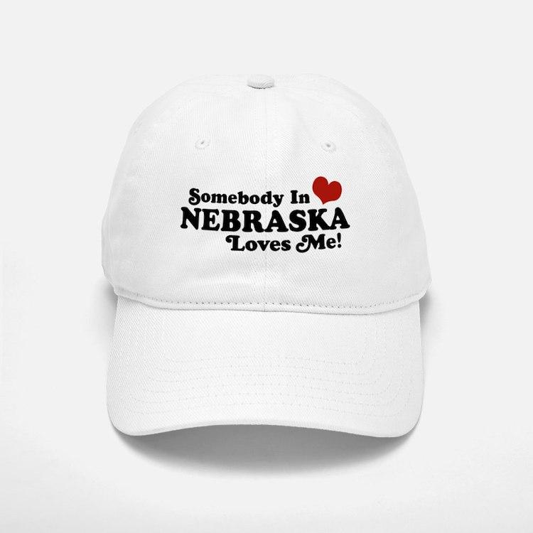 Somebody in Nebraska Loves Me Baseball Baseball Cap