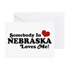 Somebody in Nebraska Loves Me Greeting Cards (Pk o