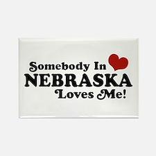 Somebody in Nebraska Loves Me Rectangle Magnet