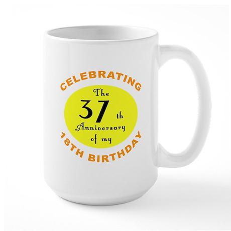 Celebrating 55th Birthday Large Mug