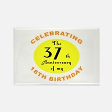 Celebrating 55th Birthday Rectangle Magnet