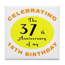 Celebrating 55th Birthday Tile Coaster