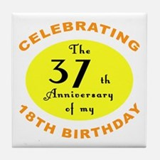 Celebrating 55th Birthday Tile Coaster