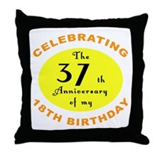 Celebrating 55th Birthday Throw Pillow