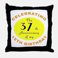 Celebrating 55th Birthday Throw Pillow
