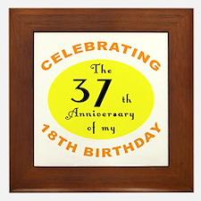 Celebrating 55th Birthday Framed Tile