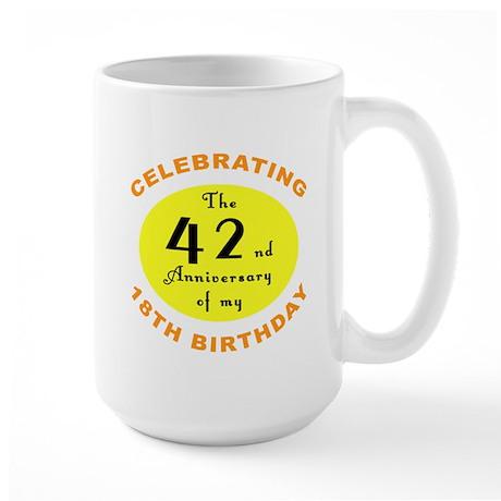 Celebrating 60th Birthday Large Mug