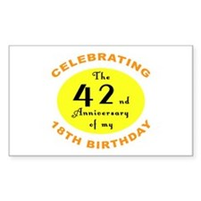 Celebrating 60th Birthday Rectangle Decal