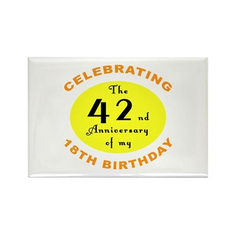 Celebrating 60th Birthday Rectangle Magnet (100 pa