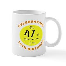 Celebrating 65th Birthday Gifts Small Mugs