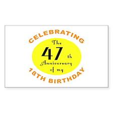 Celebrating 65th Birthday Gifts Bumper Stickers