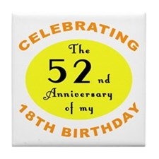 Celebrating 70th Birthday Tile Coaster