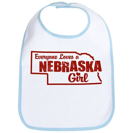 Nebraska Girl Bib