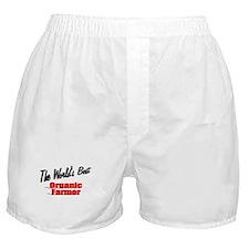 """The World's Best Organic Farmer"" Boxer Shorts"