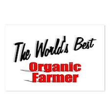 """The World's Best Organic Farmer"" Postcards (Packa"