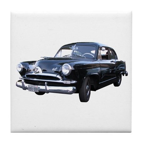 Helaine's Black Henry J Too Tile Coaster