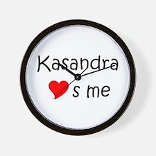 Funny Kasandra Wall Clock