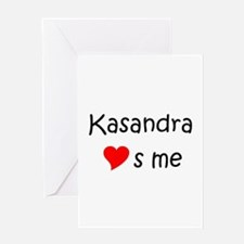 Cool Kasandra Greeting Card