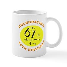 Celebrating 85th Birthday Small Mug