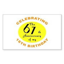 Celebrating 85th Birthday Rectangle Decal