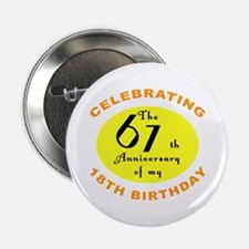 "Celebrating 85th Birthday 2.25"" Button"