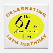 Celebrating 85th Birthday Tile Coaster