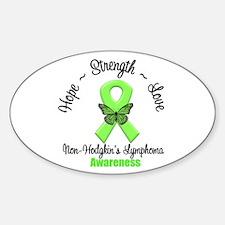 Non-Hodgkin's Lymphoma Oval Sticker (10 pk)
