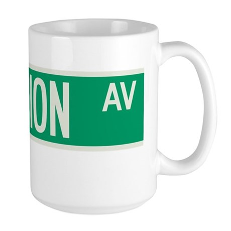Fashion Avenue in NY Large Mug