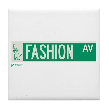 Fashion Avenue in NY Tile Coaster