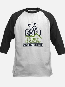 My Bike is Calling Kids Baseball Jersey