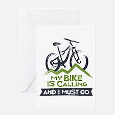 My Bike is Calling Greeting Card
