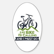 My Bike is Calling Sticker (Oval)