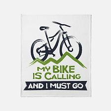 My Bike is Calling Throw Blanket