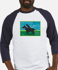 Life's a Game Polo is SERIOUS! Baseball Jersey