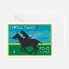 Life's a Game Polo is SERIOUS! Greeting Card