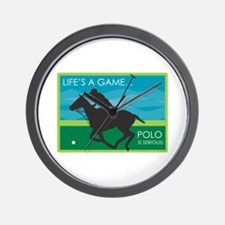 Life's a Game Polo is SERIOUS! Wall Clock