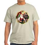 Santa's German Shepherd #14 Light T-Shirt
