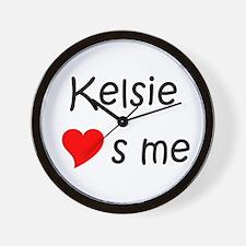 Cute Kelsie Wall Clock