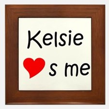 Funny Kelsie Framed Tile